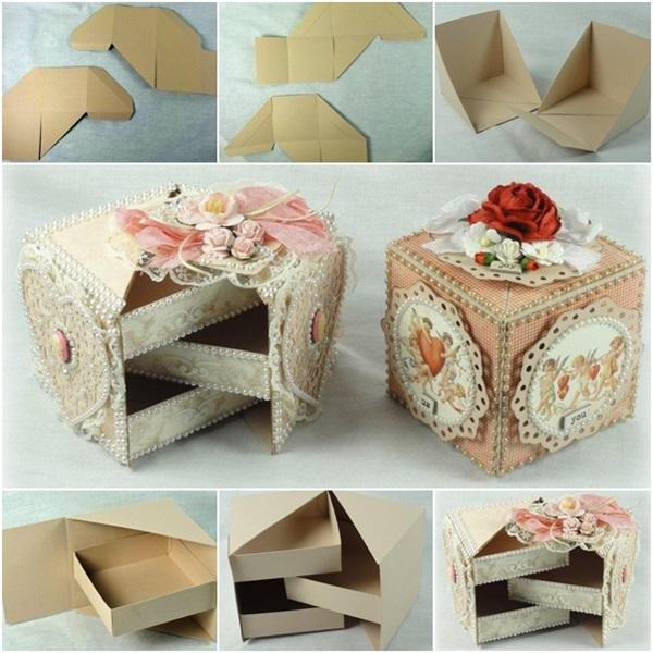 secret jewelry box from cardboard F Beautiful Secret Jewelry Box Made from Cardboard
