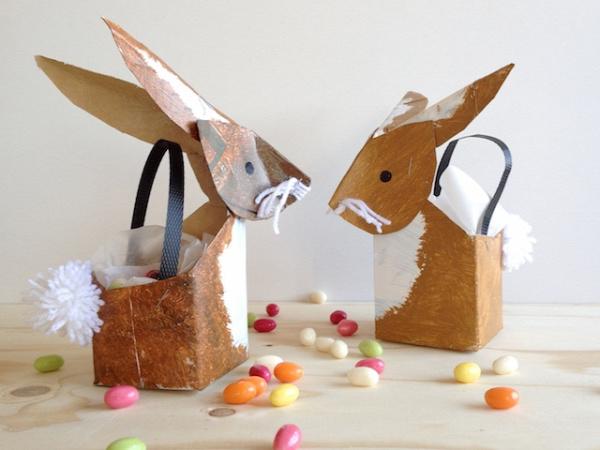 Milk Carton Crafts - bunny baskets