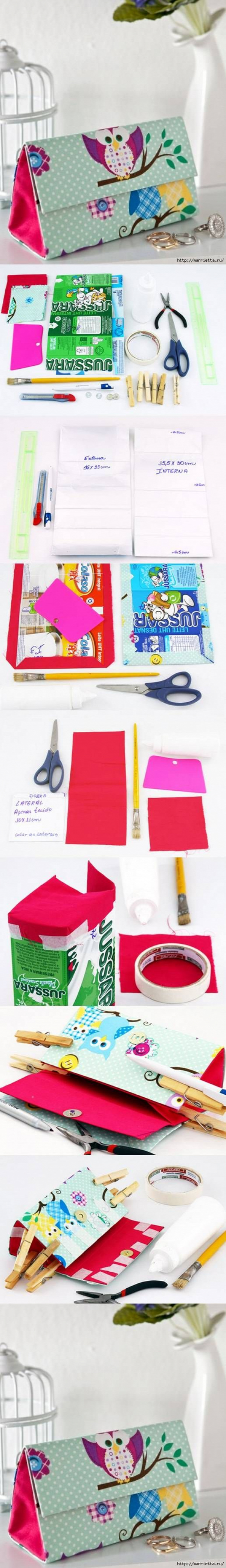 DIY Milk Box Clutch Handbag http://lv-outletonline.at.nr/       #lv bags#louis vuitton#bags $129.9-259.9!!Cheap !