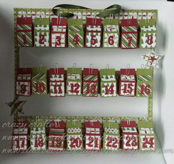 mini milk carton Advent calendar Stampin' Up!