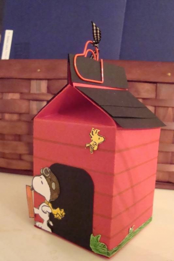 Snoopy's Doghouse Milk Carton by ruby-heartedmom - Cards and Paper Crafts at Splitcoaststampers