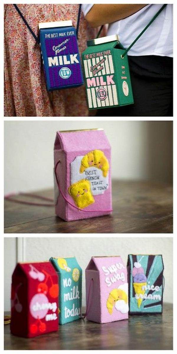 DIY Felt Olympia Le-Tan Milk Carton Bag Tutorial and Templates ... - True Blue Me & You: DIYs for Creative People