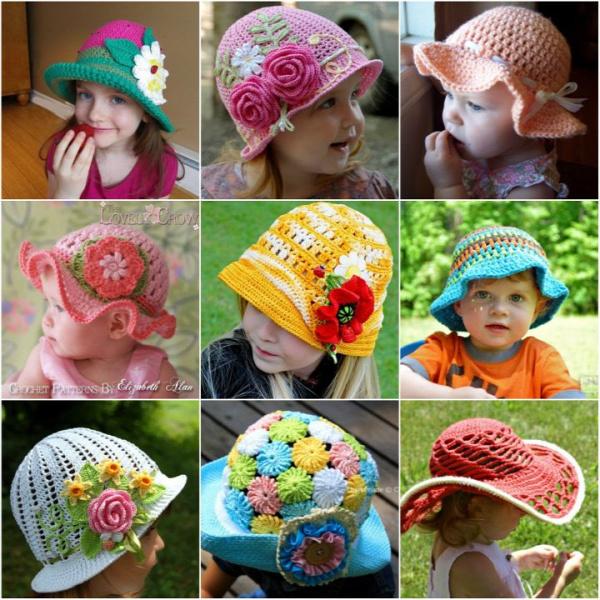 FabArtDIY Crochet Summer Sun Hat Free Pattern