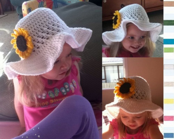 DIY Crochet Summer Sun Hat Free Pattern