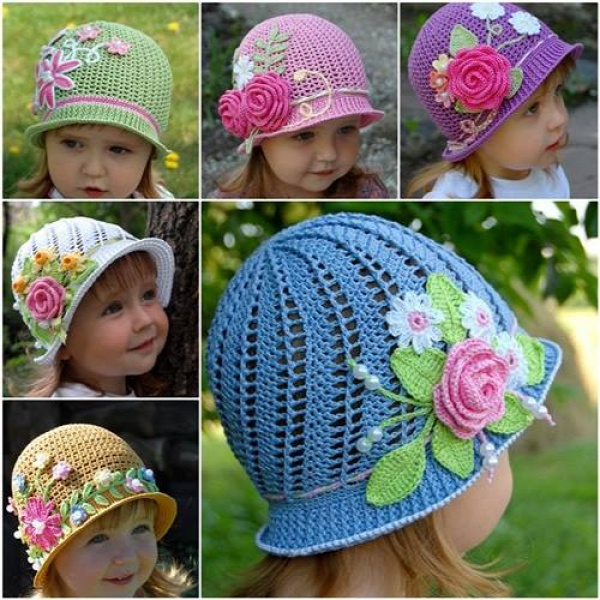 Crochet Pretty Panama Hat Pattern