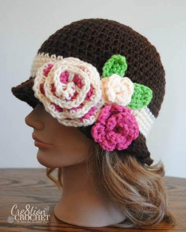 Crochet girls sun hat free pattern