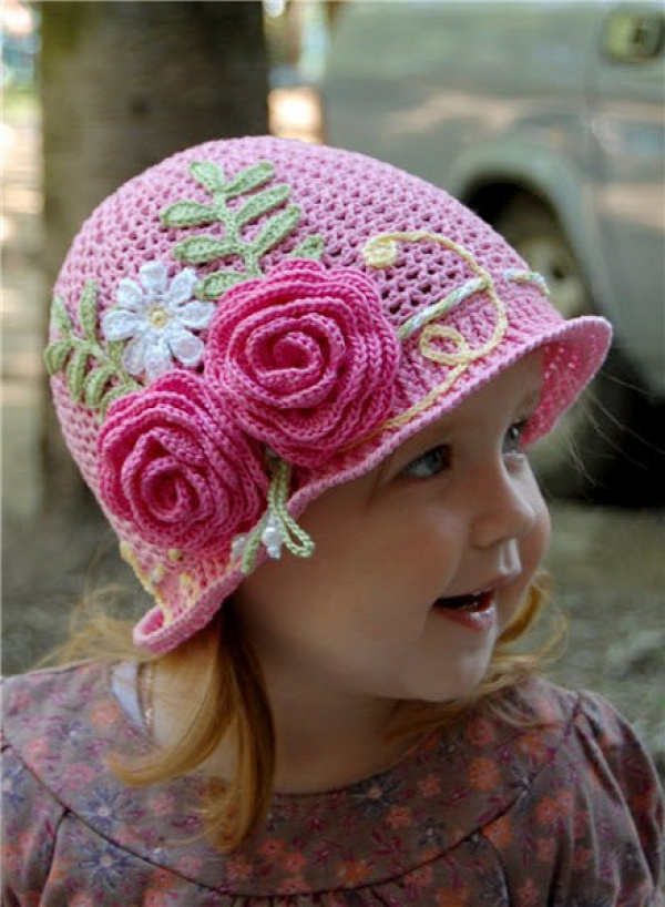DIY Crochet Summer Sun Hat Free Pattern10
