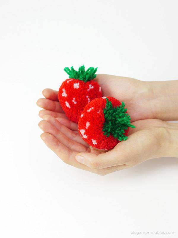 Pom Pom Fruit Tutorial