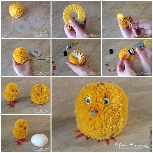 DIY Cute Pom-Pom Easter Chicks