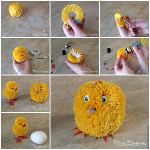 DIY Cute Pom-Pom Easter Chicks
