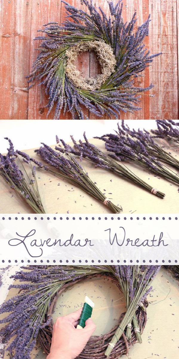 After you take down the Christmas decorations, the house always looks so bare. Replace the holiday wreath with this amazing lavender wreath instead! Cheap and easy to make, and a wonderful way to bring life into your home! www.ehow.com/...