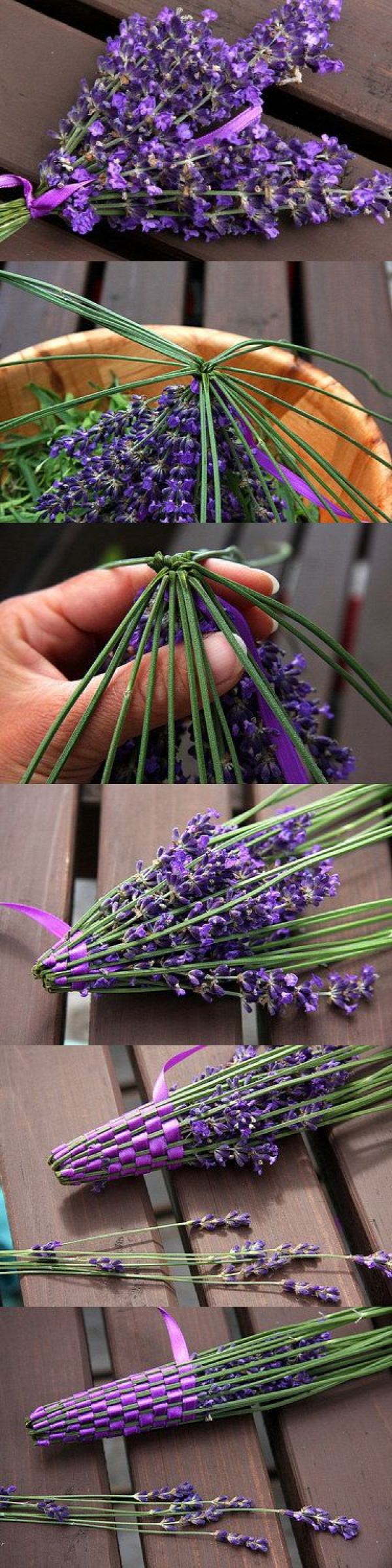 Organic Lavender Wand - Light Green and Purple Satin Ribbon - Made in Canada. $19.00, via Etsy. - ça est une chouette idée