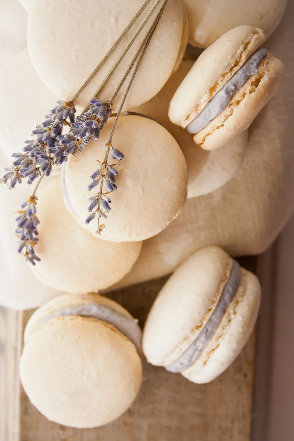 Recipe for honey lavender macarons