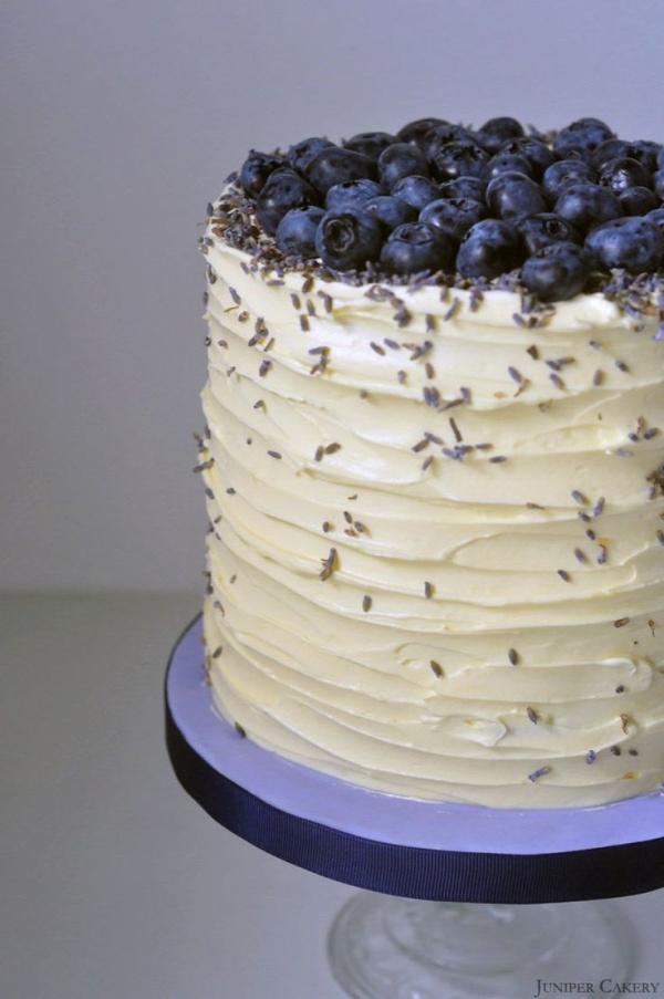 Recipe: Blueberry, Lavender and White Chocolate Cake