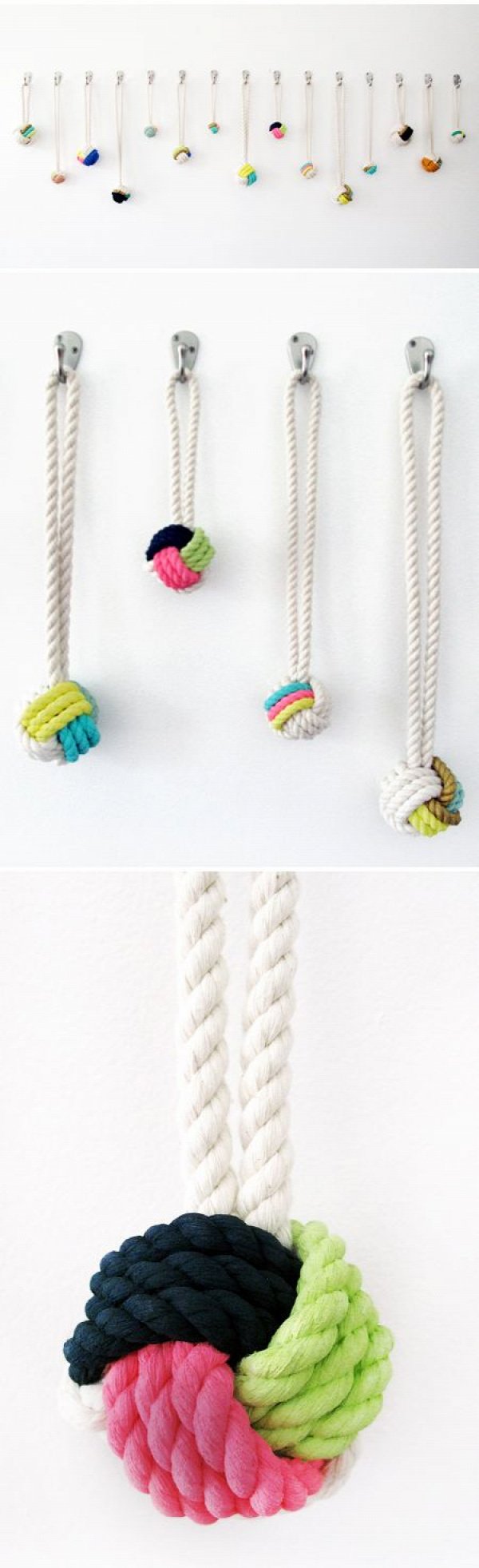 .Rope Ball Necklace