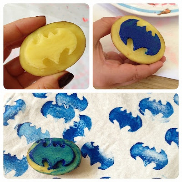 For my dear friend! You know who you are!! :D  batman potato print