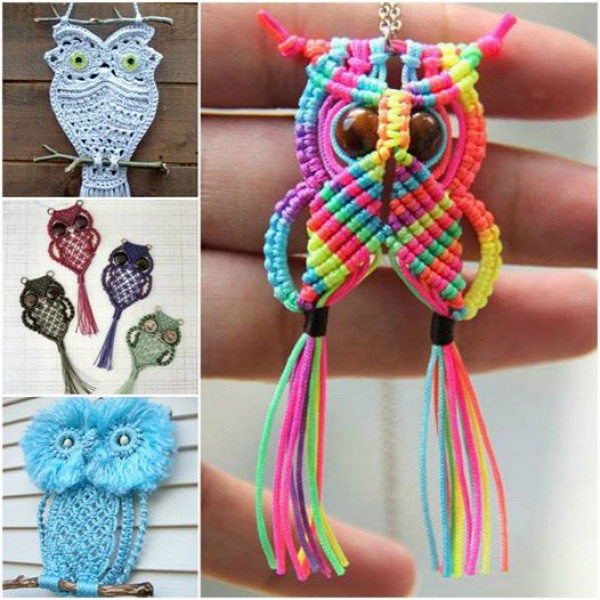 How adorable are these macrame owls