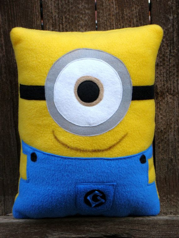 minion pillow plush by telahmarie on Etsy, $30.00