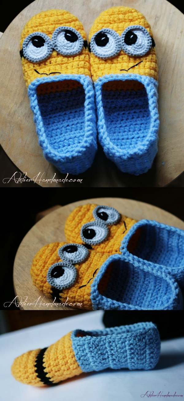 Minion slippers pattern