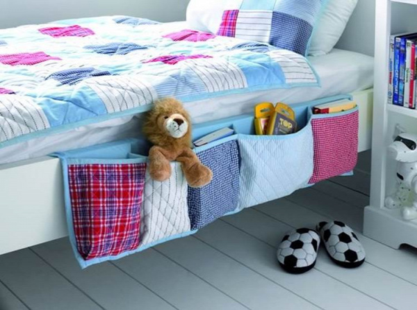 20+ Creative DIY Ways to Organize and Store Stuffed Animal Toys --> Hanging Bedside Organizer