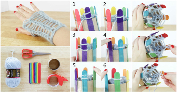 DIY Popsicle Stick Knitting Loom