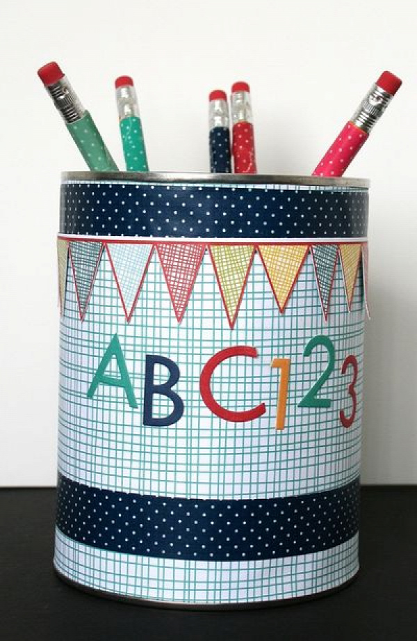 Back to school pencil can
