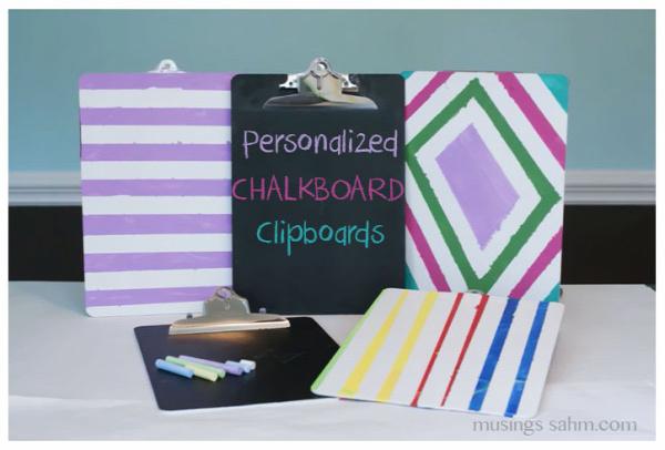 Personalized Chalkboard Clipboards Tutorial