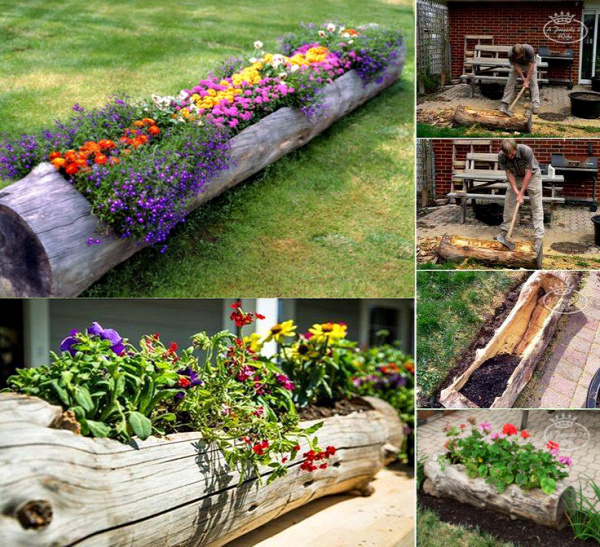 Hollowed Log Planter2