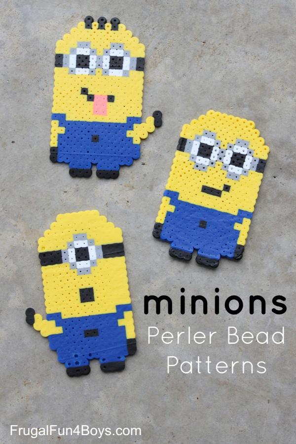 Perler Bead Minions Patterns