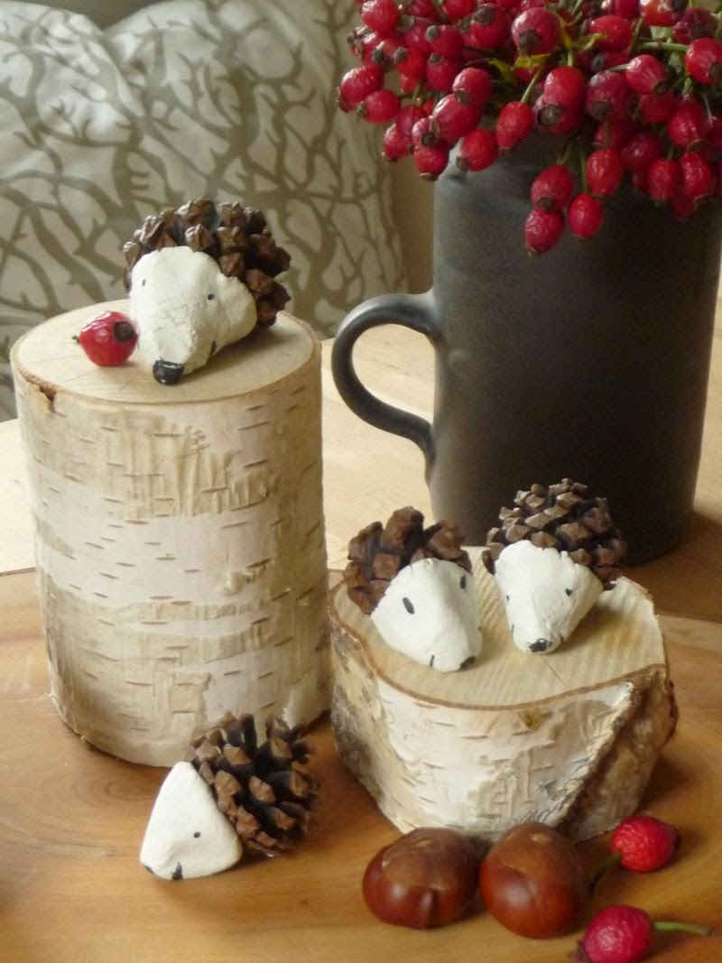 ősz DIY csináld magad lakberendezés dekoráció sün Süni