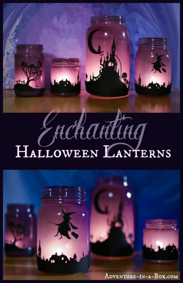 Varázslatos Halloween lámpások: Kapcsolja Mason üvegekkel Lámpások és fedezd Light Gyermekek
