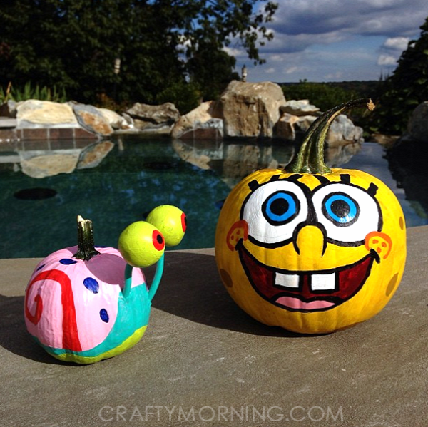 no-carve-spongebob-pumpkin-idea-for-kids