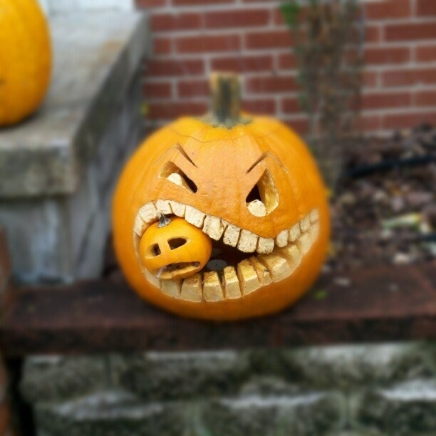 You can have a cannibal pumpkin.