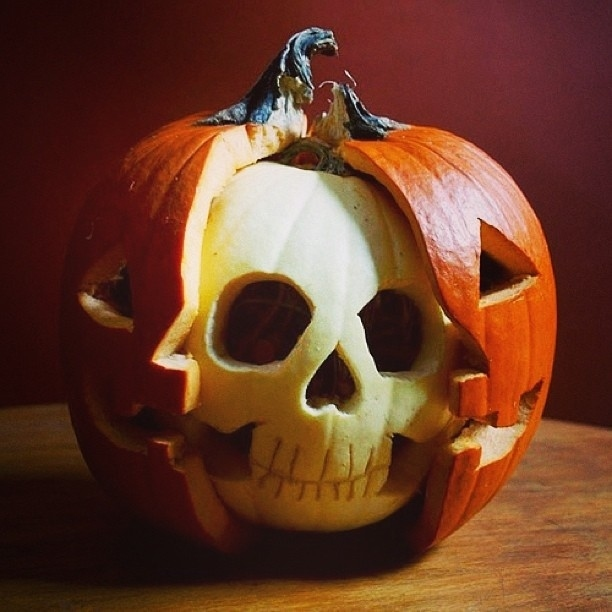 Or a pumpkin with a skull.