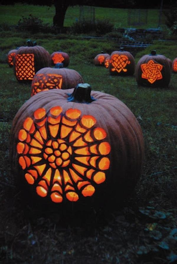 Halloween Decorating Ideas   Pumpkin Carving Patterns   Celtic Pumpkins