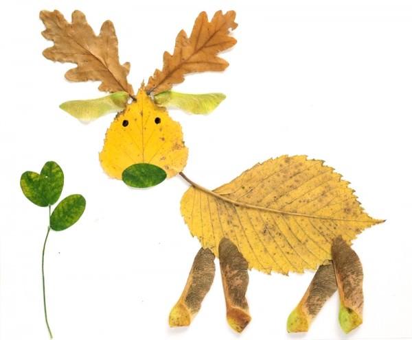 ősz falevél állatfigura
