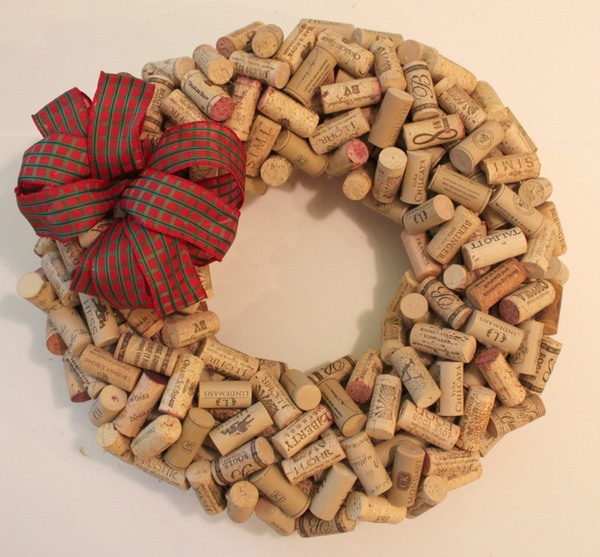 how to make a cork wreath instructions step 4 decorate the wreath