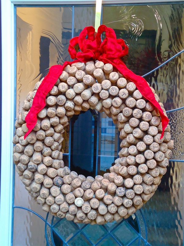 christmas wreaths ideas how to make cork wreath tutorial
