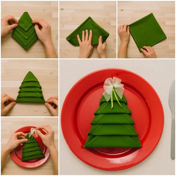 karácsony hajtogatás szalvétahajtogatás