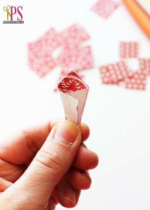 karácsony papírdísz DIY papírcsillag