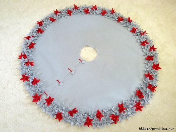 karácsony DIY csináld magad palást varrás karácsonyfa palást