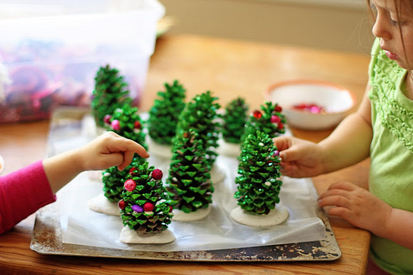 karácsony karácsonyfa toboz csináld magad