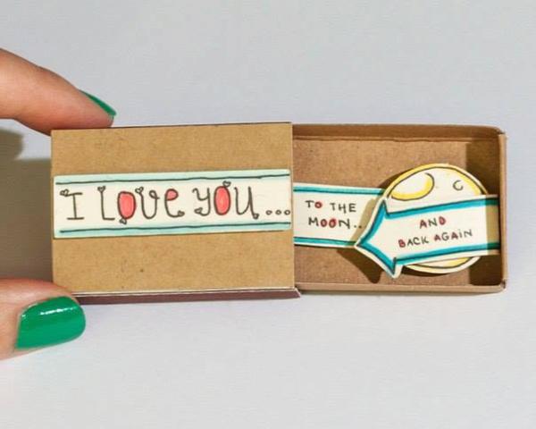 gyufásdoboz üzenet DIY csináld magad