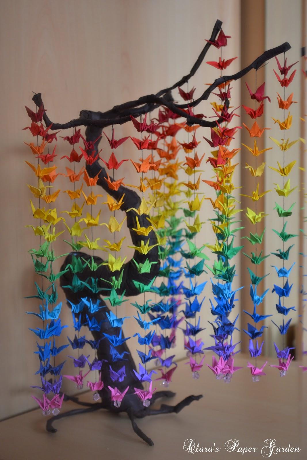 Sz npomp s mobild sz origami madarakkal sz nes tletek for How to decorate a paper butterfly