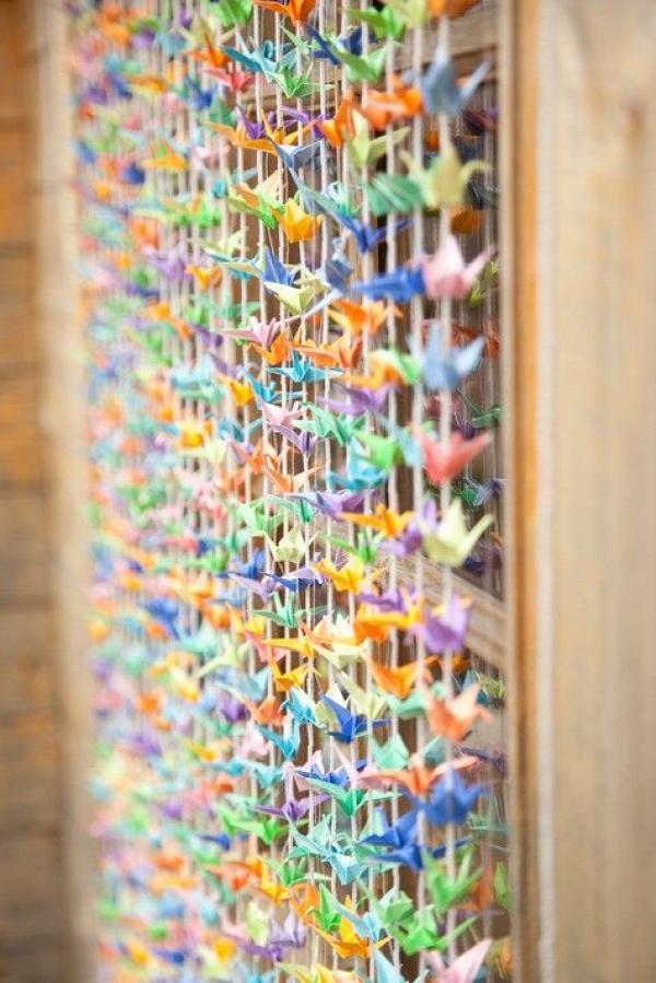 papírhajtogatás origami daru mobildísz függeszték
