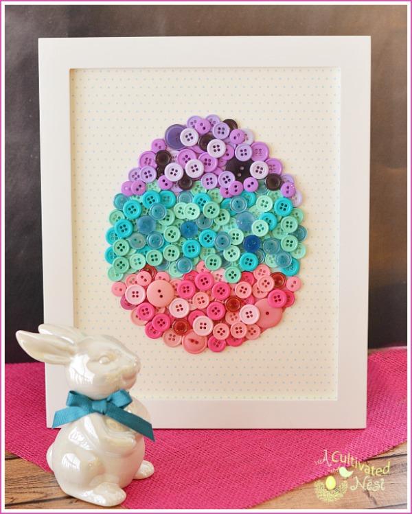 húsvét tavasz képkeret gomb dekoráció