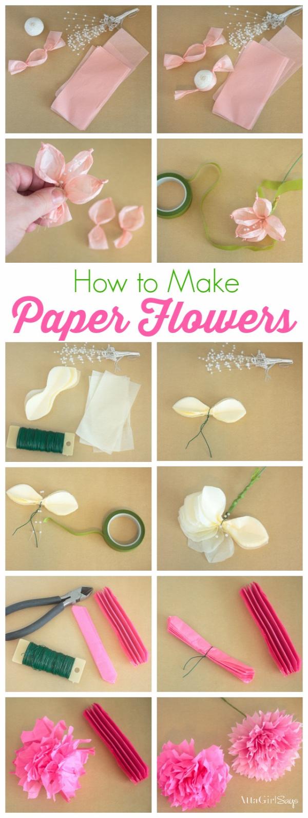 papírvirág papírvirág készítés tavasz
