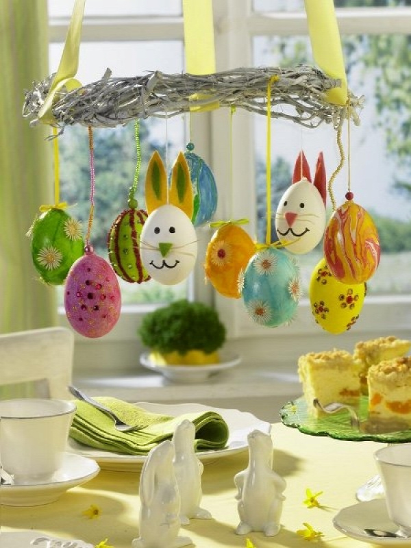 tavasz húsvét asztaldísz dekoráció