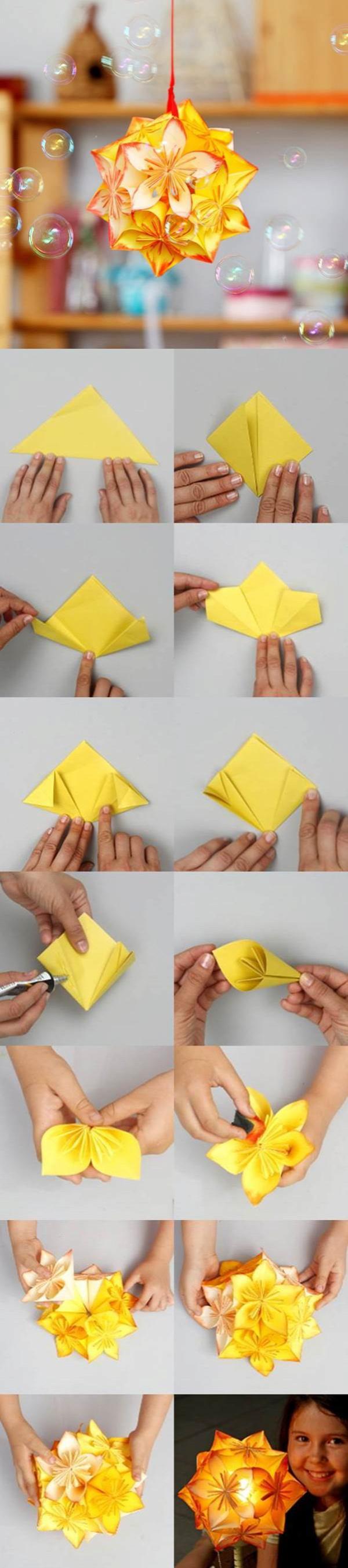 origami kusudama hajtogatás kusudama virág
