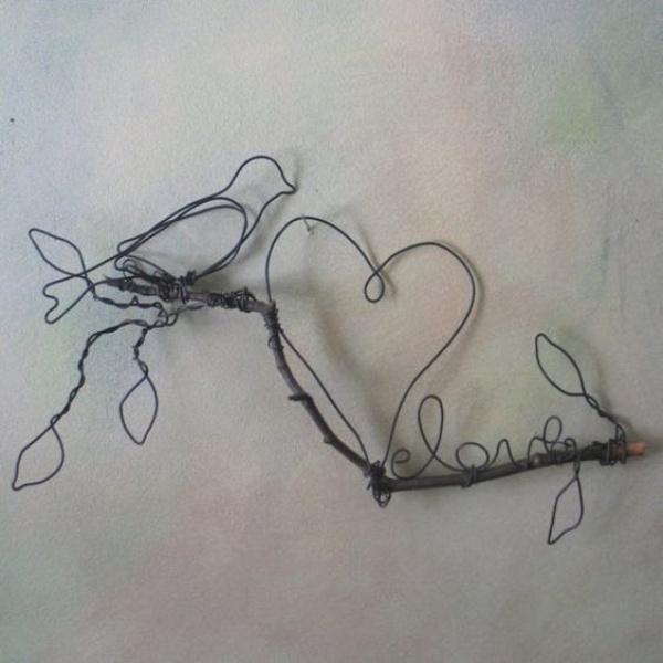drót dróthajlítás wire art